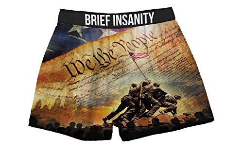 Brief Insanity We The People Constitution American Flag Boxer Shorts for Men by Brief Insanity