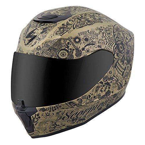Scorpion EXO-R420 Full-Face Helmet Shake Gold! Medium (More Size Options)