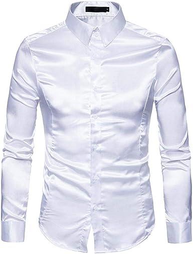Camisa De Manga Larga Modernas De La del Blusa Casual Ocio ...