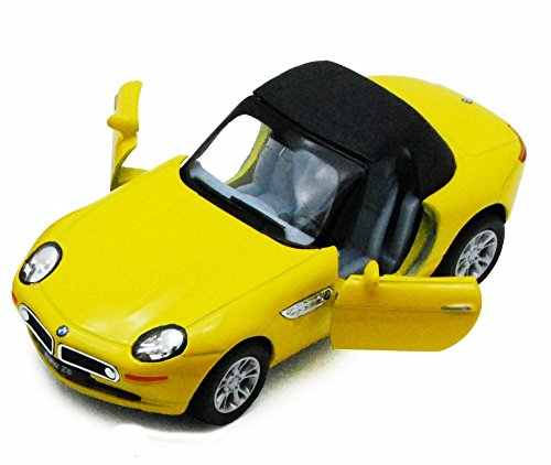 Kinsmart BMW Z8 Soft Top Convertible, Yellow with Black Top 5022/2D - 1/36 Scale Diecast Model Replica, but NO BOX