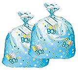 Jumbo Plastic Blue Polka Dot Boy Baby Shower Gift