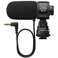 Gigibon Professional On-Camera Shotgun Microphone, External Stereo Mic for DSLR Canon, Nikon, No Battery ( ME-1 Microphone Replacement)