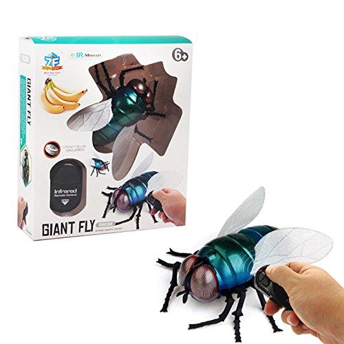 ETbotu クリエイティブトイ シミュレーション RC 赤外線誘導 昆虫 恐怖 トリッキー ハチ てんとう虫 おもちゃ Toy-CXQD-XIAOQI-0831-19 B07GZN4YMJ  Style: Flies