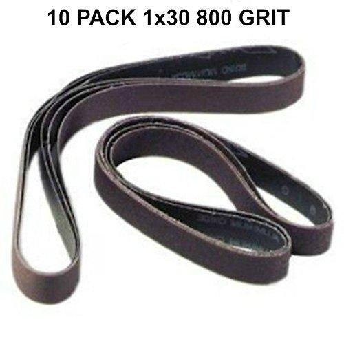 1x30 - 800 Grit 10 Pack - Silicon Carbide Sanding Belts