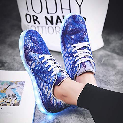 Up Usb Ringraziamento Blu Ricaricabile Led Per Scuro Light Del Halloween Natale 7 Bybetty Colori Shoes Uomini Sport Sneakers tAw6t8qS