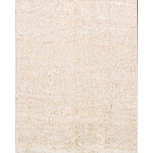 Alexander Home Faux Fur Ivory/ Beige Shag Rug (5'0 x 7'6) by Alexander Home