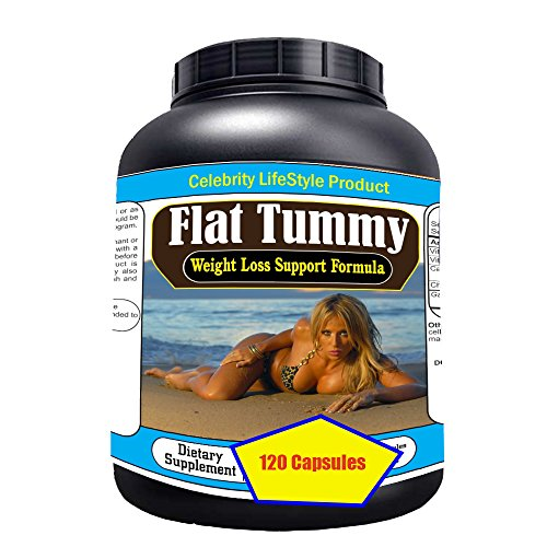 """Price comparison product image Celebrity's """"Flat Tummy"""" 1 Weight Loss Diet Pills l Extreme Fat Burner l Flat Belly l Slim Body l Six Abs Packs l Most Potent Rapid Weight loss program l 120 Pills / Bottle l Lowest Price l Made In USA"""
