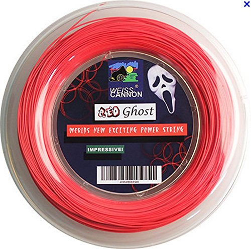Weiss Cannon Red Ghost Tennis String – 18G/1.18mm (neon red) – 660ft – 200m Reel