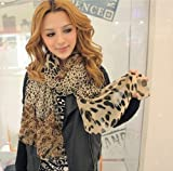 KMG Women Fashion Leopard Pattern Animal Print Shawl Scarf Wrap Brown