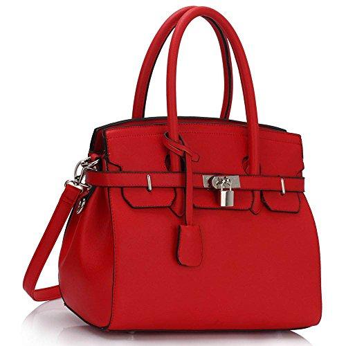 Sacchetto A Rosso Borsa Per Di Trendstar Tote Le Donne Tracolla Lucchetto fYgxqqw64