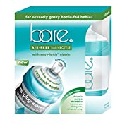 Baby Bottles - Bare Air-Free Feeding System - Easy Latch Nipple - Best For Bottle-Fed Babies – Twin Pack of 4 oz. Bottles