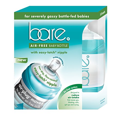 Baby Bottles - Bare Air-Free Feeding System - Easy Latch Nipple - Best For Bottle-Fed Babies – Twin Pack of 4 oz. (Free Twin Pack)