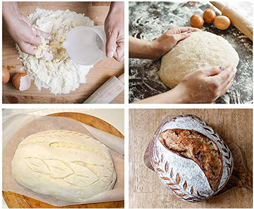 Bread Lame Dough Scoring Tool - Slashing Knife with 10 Razor Sharp Blades Sets and Leather Cover