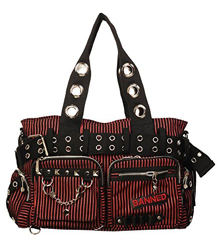 Banned, Borsa a mano donna multicolore Black Large