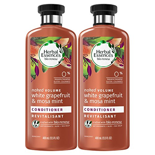 (Herbal Essences, Sulfate Free Conditioner, BioRenew White Grapefruit & Mosa Mint Naked Volume, 13.5 fl oz, Twin Pack )