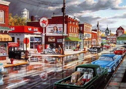 Ken Zylla Open Edition Print REFLECTIONS OF MAIN STREET