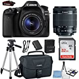 Canon EOS 80D 24.2MP DSLR Camera Bundle (Wi-Fi) with Canon EF-S 18-55mm f/3.5-5.6 IS STM Lens + Canon Camera Bag + 32GB Memory Card + Canon Deluxe Camera Bag + 50 Tripod + Camera Starter Kit