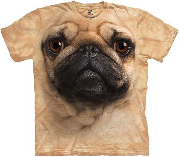 The Mountain Camesita Pug Face Dogs Adulto Unisexo S ...