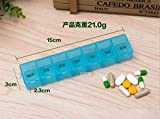 Gabion TM 1pc One Week 7 Days Pill Box with Keychain Medicine Container light Drugs Capsules Holder Storage Case Organizers