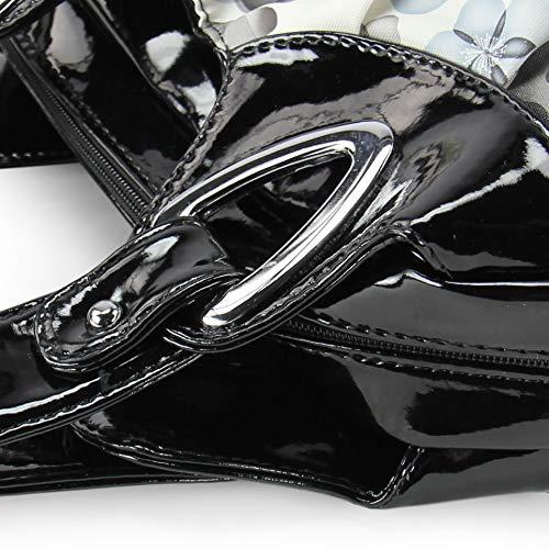 Argent Pu Satchel Poignée Pour Seau Avec À Main Sac Porte Comptant Supérieure Femmes Teamwin monnaies Clé Pochettes Noir Cuir Fleur En Sacs Moyen Vert Épaule wOHqFAzAWn