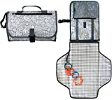 Diaper Changing Pad Station - Portable Changing Pad Organizer for Travel - Waterproof Change Mat with Clutch - Baby Travel Changing Kit with Bonus Loop for Toys - BPA Free