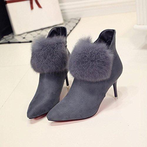 Heel Gray Boots Thin Heels Xinantime High Shoes Women Ankle Boots Platform Sexy wfPn44gqz