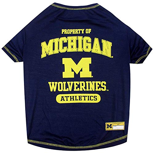 Michigan Wolverines NCAA Dog Pet Tee T-Shirt (Small)