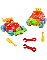Take Apart Toy Disassemble Toy Take apart toy car Construction Vehicles Disassembly Toy Building Toys Racing Cars Toys for Boys 2 Set with Tools Educational 3 Year Old Boy Girls Toys