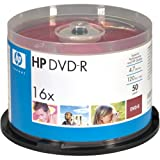 HOODM16WJH050 - HP DM16WJH050CB 4.7GB DVD-Rs, 50-ct Printable Spindle
