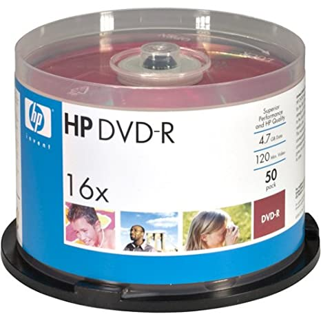 graphic regarding Printable Dvd Rs titled HOODM16WJH050 - HP DM16WJH050CB 4.7GB DVD-Rs, 50-ct Printable Spindle