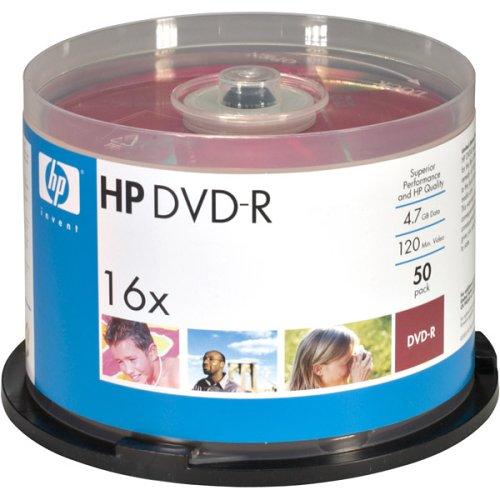 HOODM16WJH050 - HP DM16WJH050CB 4.7GB DVD-Rs, 50-ct Printable Spindle by HP