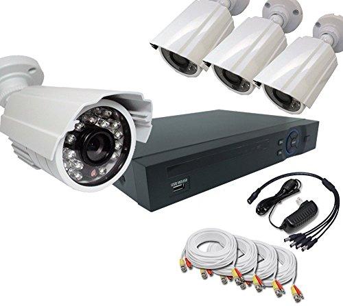 Bellcom Hd-cvi Crime Prevention 4pcs Camera Set [4 Channels Security DVR + 720p 1.0megapixel
