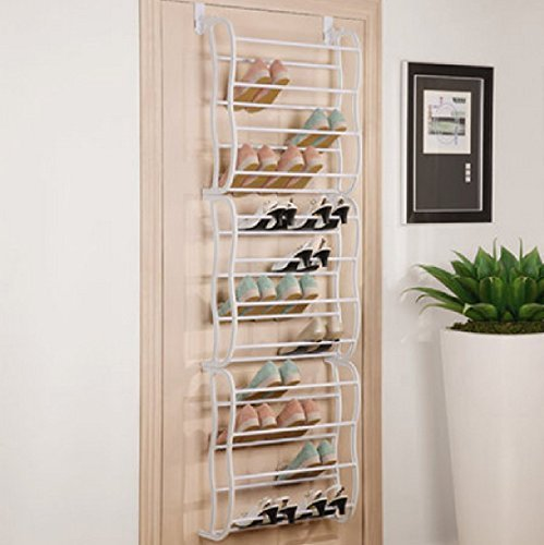 36 Shoe Rack Closet Space The Door Over Hanging Organizer : Saver Organizer Storage
