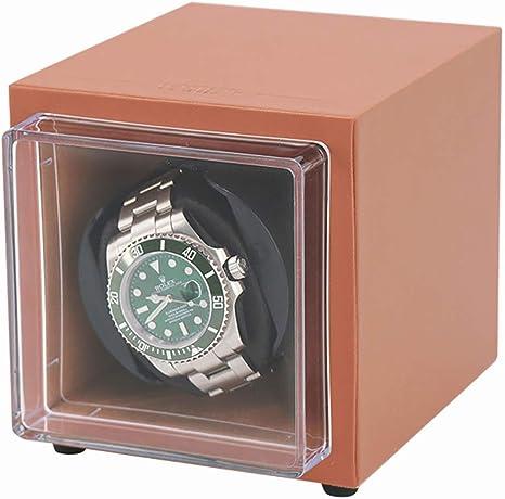 LOKKG Cajas giratorias para Relojes mecánicos automáticos o Rolex, Mini enrollador portátil de CA o Motor japonés súper silencioso a batería, Naranja: Amazon.es: Deportes y aire libre