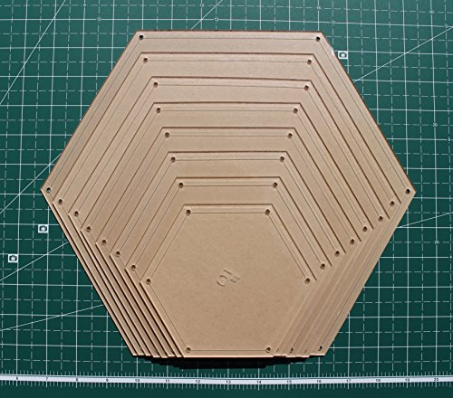 Hexagon Quilting Template Set, 5'', 6'', 7'', 8'', 9'', 10'', 11'', 12'' with 1/4'' Seam Allowance by LaserThing