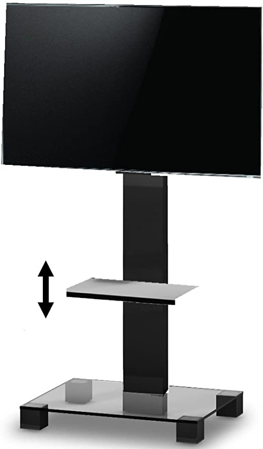 RO&CO - Peana de TV con Estante Ajustable. Alto: 180 cms. Vidrio ...