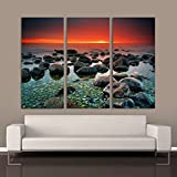 "Mysterious Sunset - 32"" x 48"" - 3 panels 16""x32"" ( each panel ) Print On Aluminum HD Metal High Gloss offers"