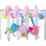 SKK Baby Plush Spiral Activity Toy Crib Stroller Car Seat Travel Toy Bird
