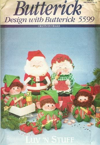 Santa Claus Stuffed Doll Toy #1 ~ Vintage Christmas Pattern