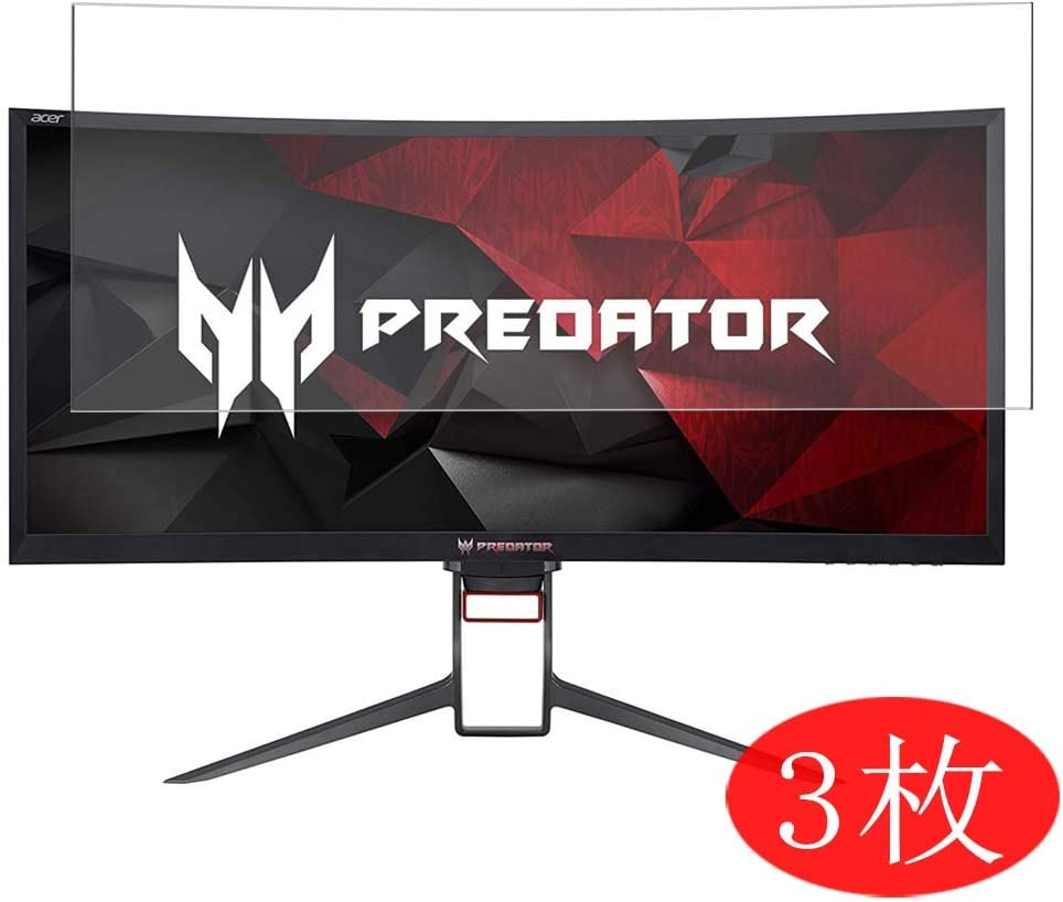 """【3 Pack】 Synvy Screen Protector for Acer Predator Z35P bmiphz 35"""" Display Monitor TPU Flexible HD Film Protective Protectors [Not Tempered Glass]"""