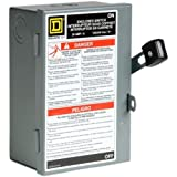 Square D by Schneider Electric L211N 30 Amp 120/240-Volt Two-Pole Indoor Light Duty Fusible Safety Switch with Neutral by Square D by Schneider Electric