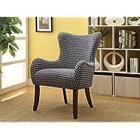 ACME Furniture 59401 Gabir Accent Chair, Fabric & Espresso