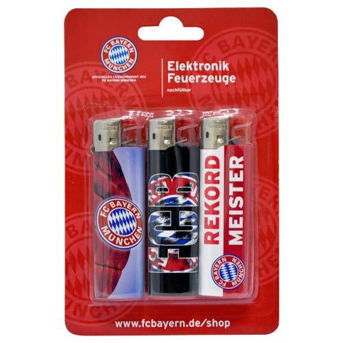 FC Bayern München Feuerzeug Electronic 3er-Set