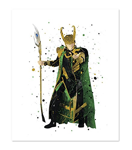 PGbureau Loki Ragnarok Print Poster - Inspired Superhero Wall Art Home Decor - -
