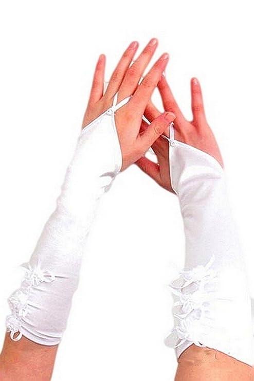 Guantes largo para mujer punta desde los codos para novia.