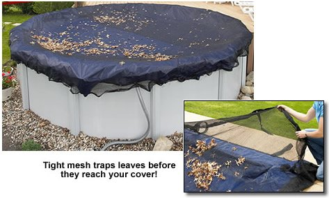 Above-ground Pool Leaf Net -Pool Size: 24 in Round-Arctic Armor 4 Yr (Arctic Round Pool Cover)
