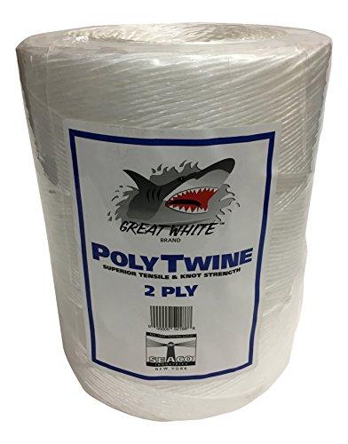 GREAT WHITE GWPT2 2-Ply Tying Twine (Polypropylene Twine)