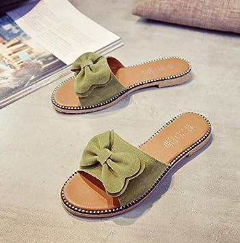 LvYuan Damen Sommer Hausschuhe / Komfort Casual Fashion / Bowknot / Plattformen / Sandalen / Strand Schuhe