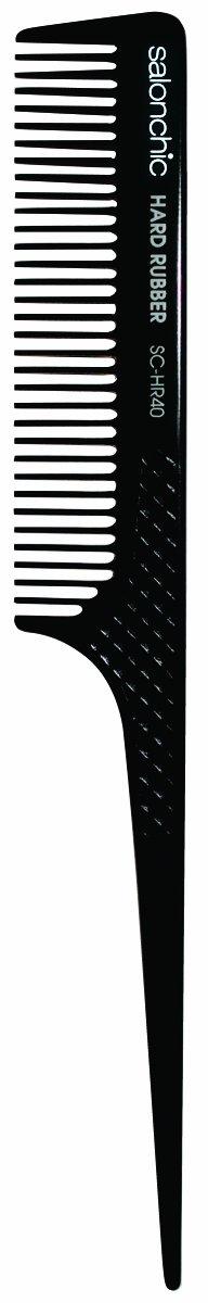 Salonchic 8' Rat Tail Hard Rubber Comb