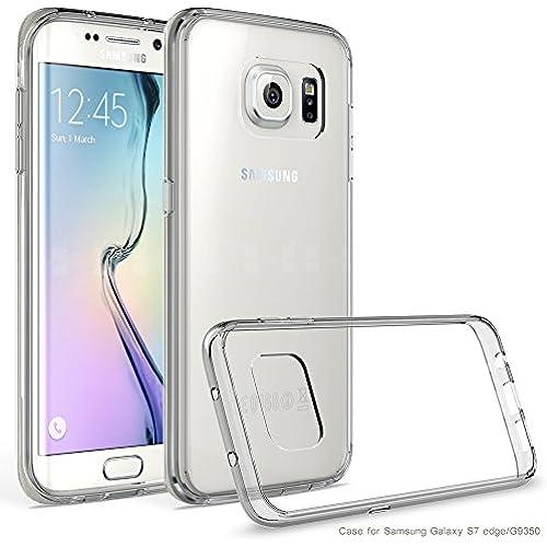 Galaxy S7 Edge Case, AOFU [Slim Hybrid] [Crystal Clear] Clear Back Panel + TPU Bumper for Samsung Galaxy S7 Edge-CrystalClear Sales